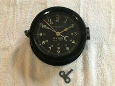 Antique Navy Chelsea Ship's Clock, Circa 1940s, Serial No., - 448Xxx