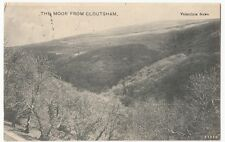Devon; The Moor From Cloutsham PPC, 1904 Minehead Squared Circle PMK