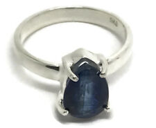 Kyanite Pear Ring, Solid Sterling Silver, Uk Size N 1/2, Actual One, Faceted.