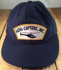 Aero Copters Inc. Helicopter Patch Pilot Hat Vintage