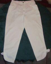 Damen Hose 7/8 Sommerhose GO-IN Gr. 40 weiß 100% Baumwolle