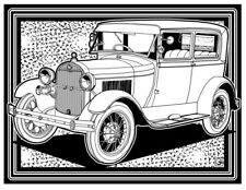 Coloring Page - Retro Car # 10 (Hi-Res JPG file will be sent by email)