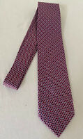 NWT $195 CHARVET 100% Pure Silk Men's Burgundy Tie, One Size