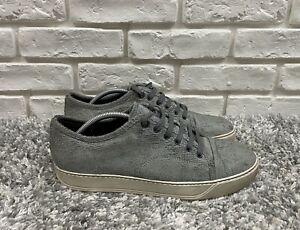 Men's Lanvin Fashion Sneakers Size 8 Eur 42 Gray Shoes Suede