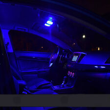 Fit MERCEDES Benz C CLASS W204 INTERIOR FULL Blue LED BULBS LIGHT Kit Cool