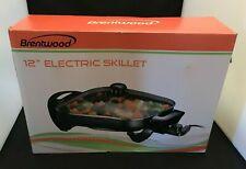 "Brentwood Appliances SK-65 Electric Skillet Glass Lid 1 300W 12"" NIB"
