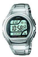 Casio Wave Ceptor Men's Quartz World Time Silver-Tone 42mm Watch WV58DA-1AV
