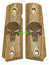 Real Wood Hand Grip For Marui/WE/KJ/BELL/1911/MEU GBB Airsoft (Punisher Skull)US
