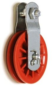 "2   2-1/2"" Red Nylon Composite Pulleys"