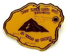 Pin Spilla Lions International Hawaii West Kauai Lions Club 1938-1988 50 Years O