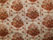 121 x 210 cms 1970s Vintage Cotton Fabric Dutch Delft Tiles Windmills Crafting