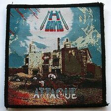 H BOMB Attaque Woven Patch/Aufnäher/écusson/parche Classic Heavy Metal