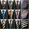 Men's Silk Classic Stripe Tie Jacquard Woven Necktie Office Wedding Party Ties