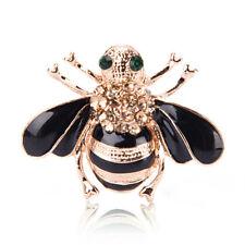 Moda de la abeja broche elegante chapado en oro cristal Rhinestone Party broche