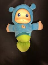 2011 Playskool Musical Light Up Lullaby Gloworm Glow Worm Blue Plush Toy