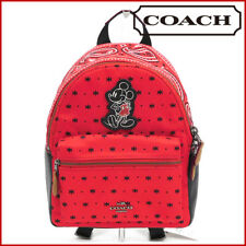 Paypal Coach Bag F59831 Mini Charlie Backpack in Bandana Print Mickey Agsbeagle