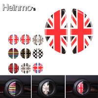 Black Union Jack Door Handle Sticker Decal For Mini Cooper F54 F55 F56 F57 F60