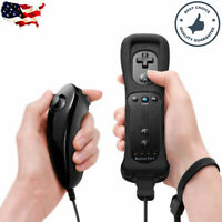 Built in Motion Plus Remote Nunchuck Controller + Case for Nintendo Wii & Wii U