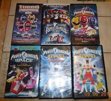 Power Rangers 6 vhs lot Rare VHTF In Space Lightspeed Rescue Dinothunder Turbo