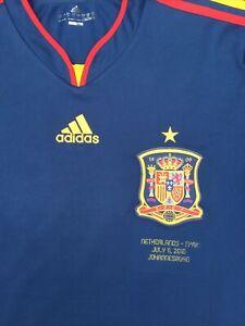 ORIGINAL SPAIN FOOTBALL AWAY SHIRT 2010-12 SIZE LARGE ADULT SPAIN V HOLLAND