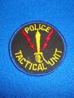 Police Tactical Unit Patch New Old Stock