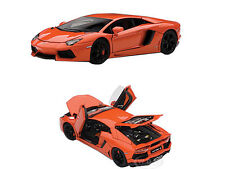 LAMBORGHINI AVENTADOR LP700-4 METALLIC ORANGE WITH OPENINGS 1/43 AUTOART 54647