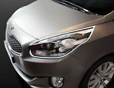 Chrome Front Head Light Lamp Molding Cover 2p For 13 Kia Rondo : All New Carens