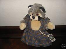 Ganz Cottage Collectibles Plush Raccoon ~ Rita ~ MWT