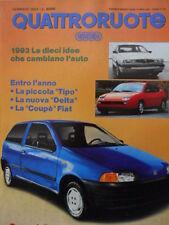 Quattroruote 447 1993 - Test Ferrari 456 GT - Fiat UNO   [Q37]