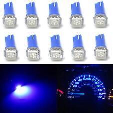 10x Ultra Blue T5 70 Wedge 1-SMD LED Gauge Cluster Lights Instrument Panel Bulbs