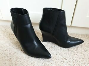 Womens Black Ankle Boots. UK5. Nicole Miller New York