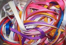 """10 x 1 metre Bundle of Random 10mm 3/8"""" wide Plain Colours Grosgrain Ribbon"""