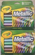 2 Packs Crayola Metallic Markers 8 ea