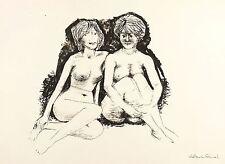 WALDEMAR GRZIMEK - ZWEI SITZENDE AKTE - Lithografie 1961