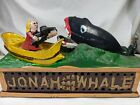 VTG Reproduction Cast Iron Jonah and the Whale Bank with spring action mechanism