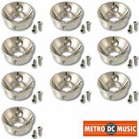 10-Pack ELECTROSOCKET Jack Plate fits Fender Telecaster NICKEL Upgrade Your Tele