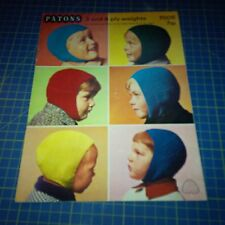 Vintage Patons Knitting Pattern 6 Helmets Hats for Boys in 6 sizes 7005