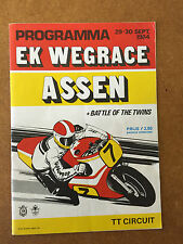 1984 European GP Battle of Twins Dutch Motorcycle Road Races Programme Assen TT