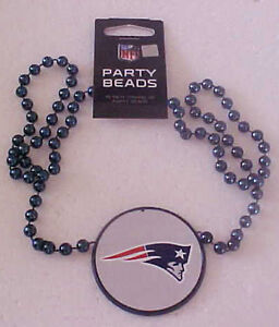 New England Patriots Logo Party Beads NEW Super Bowl 53 LIII 18 inch necklace