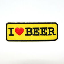 I love Beer Motorcycles Biker Motto Harley Chopper Jacket T-Shirt Iron on patch