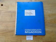 B93 Cincinnati Milacron Parts List Cat. Manual 2-24  Auto. Milling Mach M-1829-1