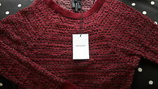 £210 Isabel Marant holes rare top. wine red. S 1 (8uk 36Fr 36eur 40Italy). new