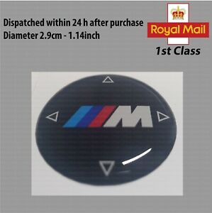 BMW I Drive 3D Badge Emblem Sticker Gel Domed Sport Performance Media Control