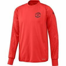 Camisetas de fútbol de manga corta para hombres rojo