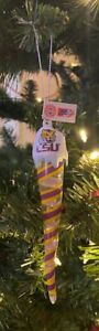 LSU Tigers Icicle Ornament Christmas Tree LIGHTS UP! Holiday FREE SHIPPING