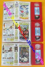 3 VHS film IL PAZZO MONDO DI GO NAGAI serie 1/3 animazione DYNAMIC (F114) no dvd