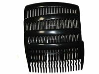 8cm Black Side Hair Combs Slides Clips Hair Accessories