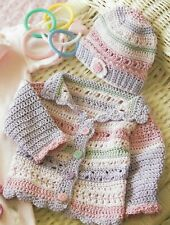 Girl'S Striped Hat & Sweater Baby Crochet Pattern Instructions
