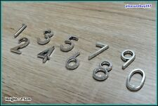 Self Adhesive Chrome Number Silver Car House Door Numbers 3D Height 2.5cm HAG