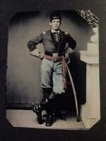 Sixth-Plate Civil War Soldier Tintype C2358RP